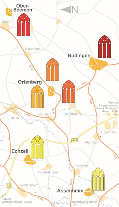 Karter Kunst in Kirchen in der Wetterau 2019
